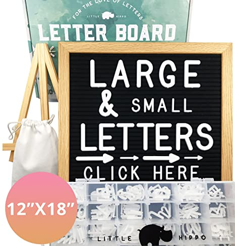 amazon com letter board letters stand sorting tray canvas bag