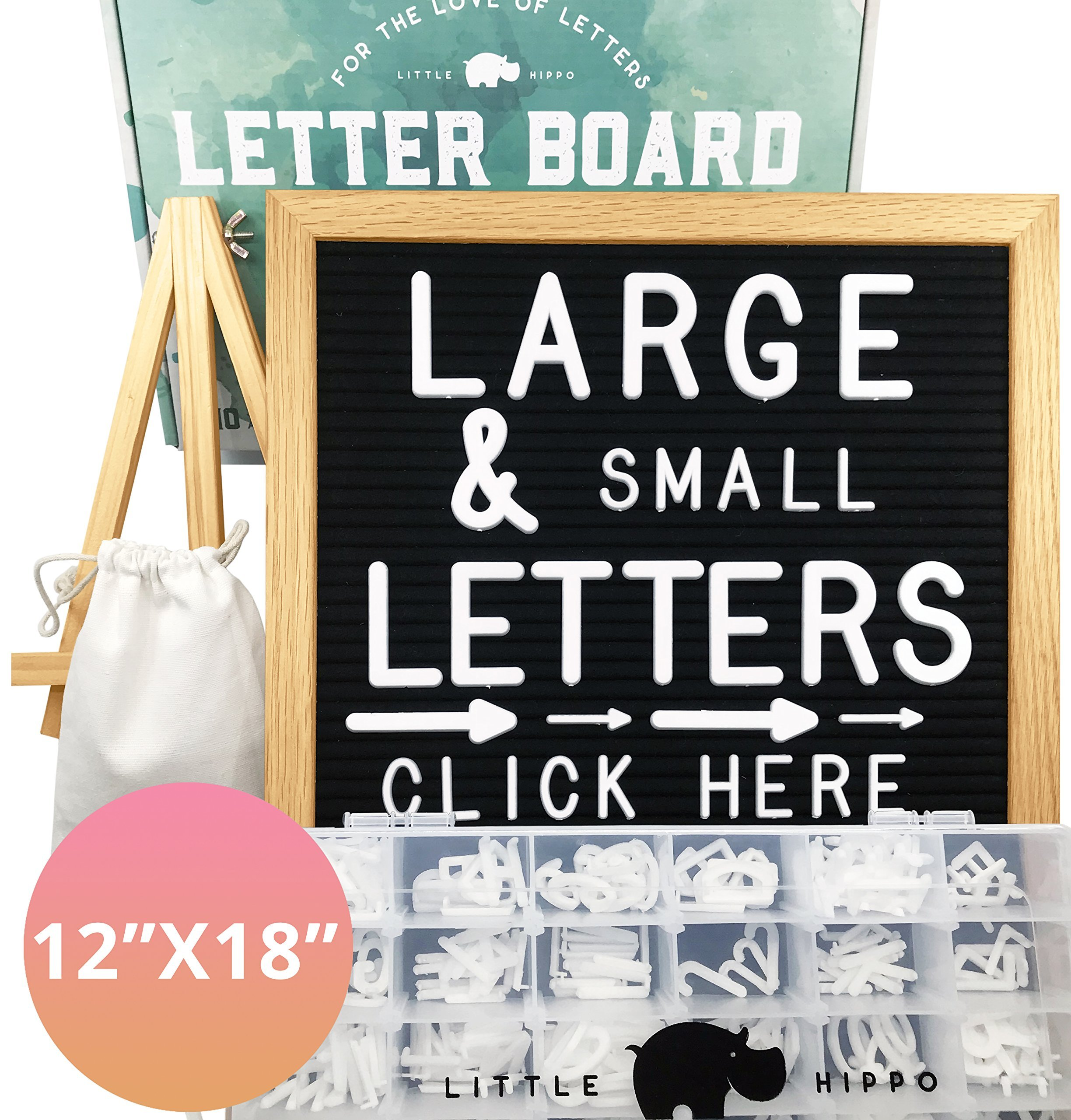 Letter Board 12x18 | +690 PRECUT Letters +Stand +Sorting Tray | (Black) Letter Board with Letters, Letters Board, Letter Boards, Felt Letter Boards, letterboard, Word Board, Message Board, Letter Sign