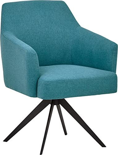 Amazon Brand Rivet Mid-Century Swope Curved Arm Swivel Office Chair