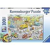 Ravensburger - 10558 8 - Puzzle - Les Véhicules de La Ville - 100 Pièces