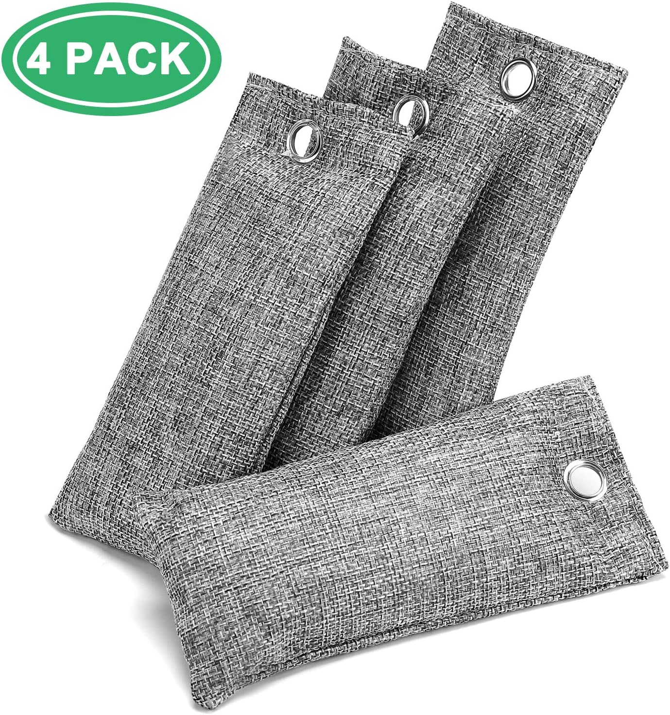2 Pack Perfect for Shoes Bamboo Activated Charcoal Odor Absorbers