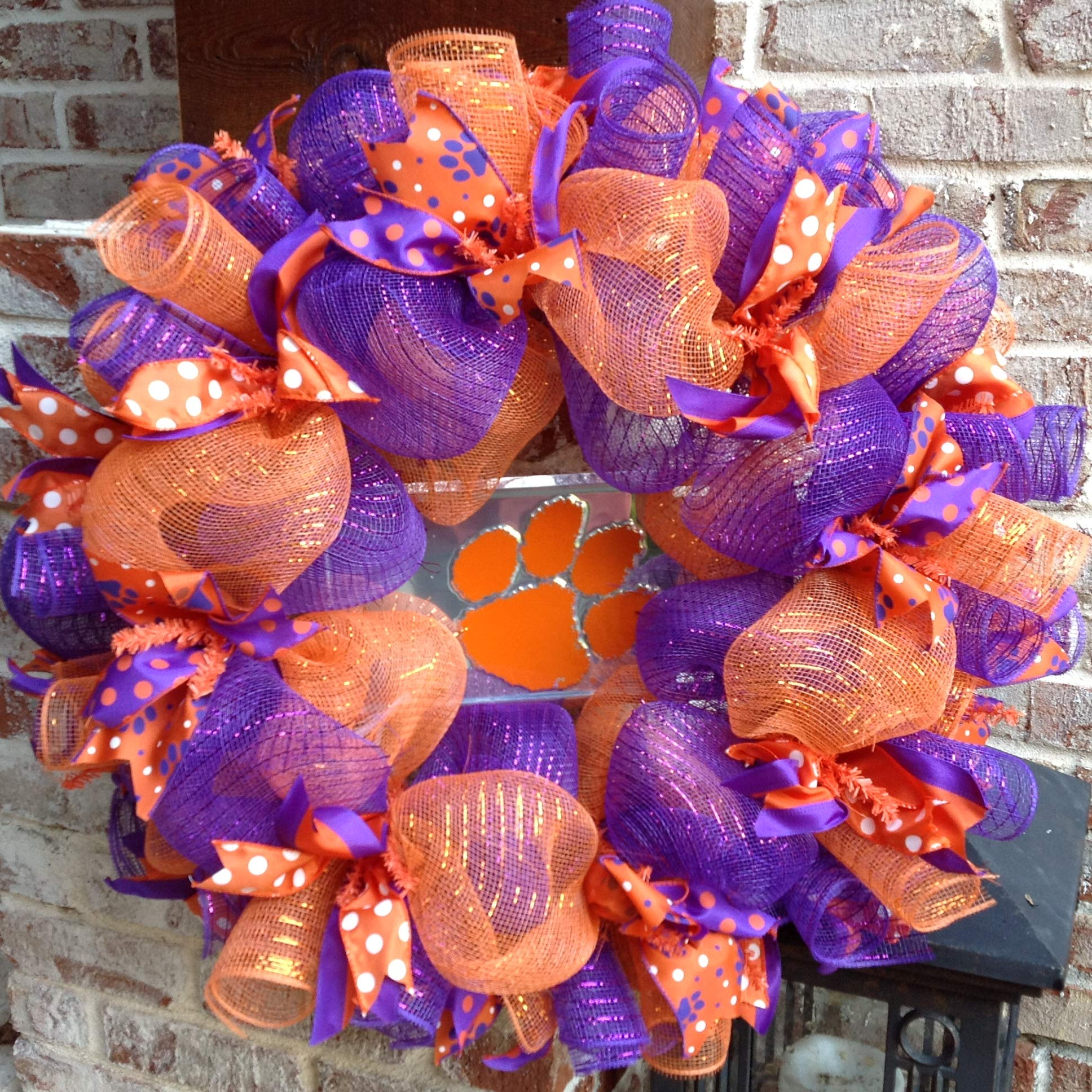 Flora Decor Clemson Tigers Collegiate Wreath - 24''