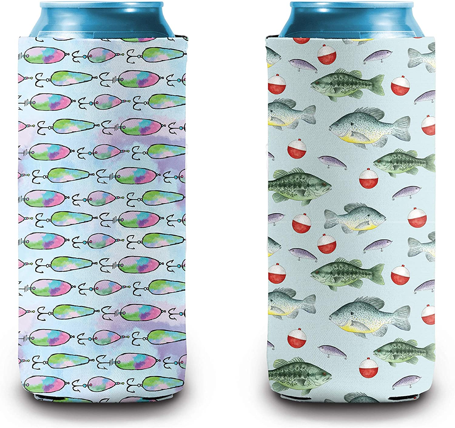 Slim Can Cooler | Skinny Can Cooler for 12oz Drink | Perfect for Skinny Spiked Hard Seltzers and Energy Drinks | Fishing