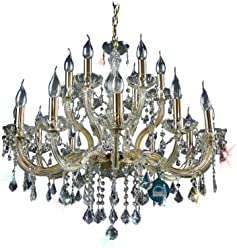 Uvp799 /& X20AC; Chandelier Crystal Chandelier 18 Bulb with Glass Crystals Gold /ø75cm EXCL