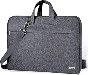 "Voova 14-15.6 Inch Laptop Sleeve Case Laptop Shoulder Bag, Slim Computer Carry Case with Strap Compatible with MacBook Pro 15.4"" / Macbook Pro 16 2019 / Surface Laptop 3 Book 2 15"" Chromebook XPS,Grey"