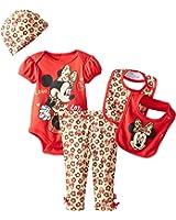 Disney Baby Girls' Minnie Mouse 5 Piece Gift Box Set, Purple