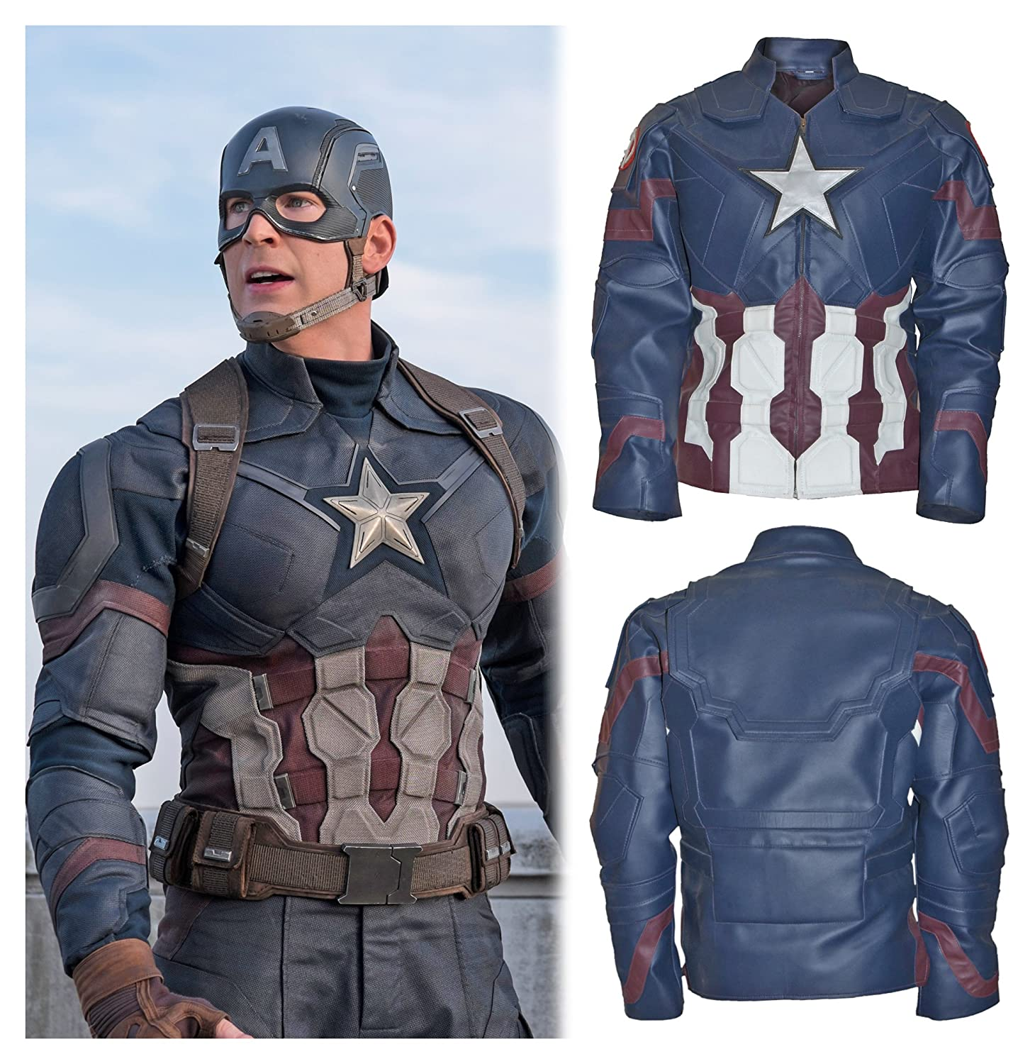 Captain America: Civil War Adult Captain America Real Leather Jacket