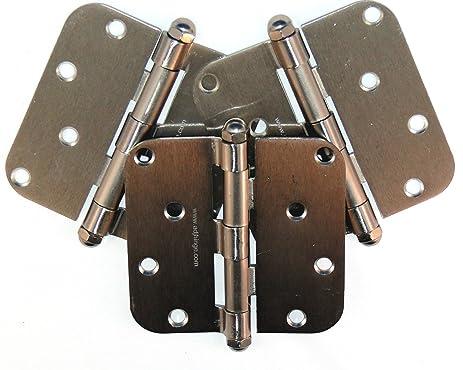 The Original Adjustable Door Hinge ESN3B24 Exterior Hinges, 3 ...