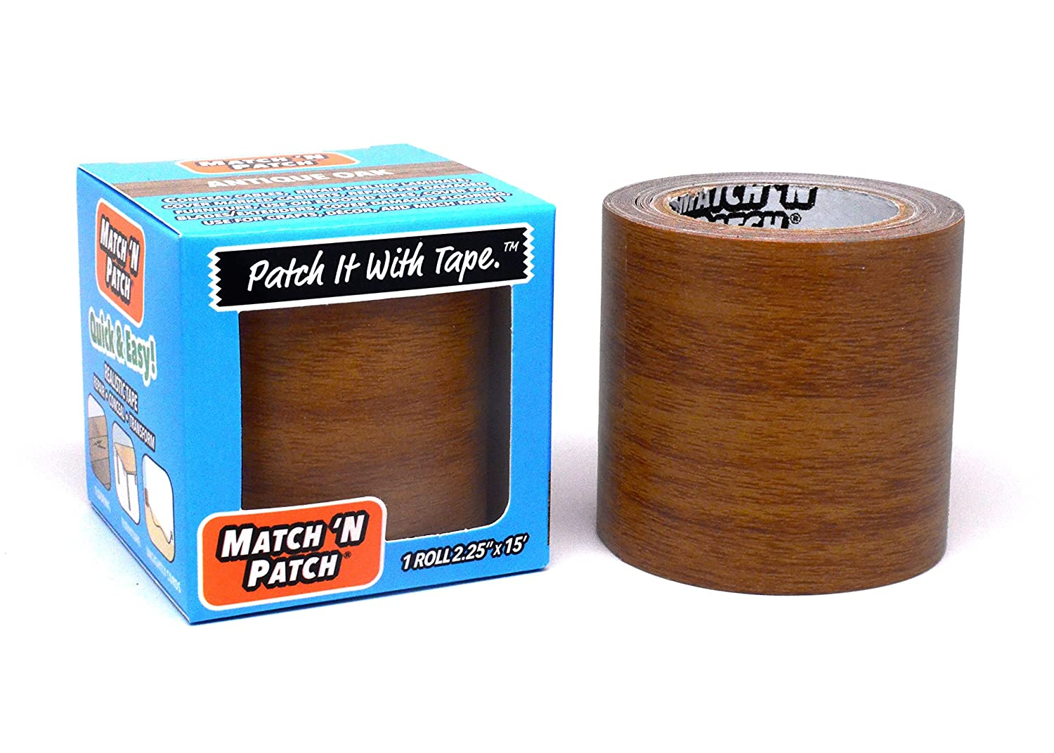 Fortis Design, Inc. Match 'N Patch Realistic Repair Tape, Antique Oak Inc. Match ' N Patch Realistic Repair Tape MNP-1520