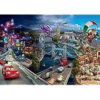 AG Design FTD 0287 Cars 2 Disney, papier fotobehang - 360x254 cm - 4 delen, papier, multicolor, 0,1 x 360 x 254 cm