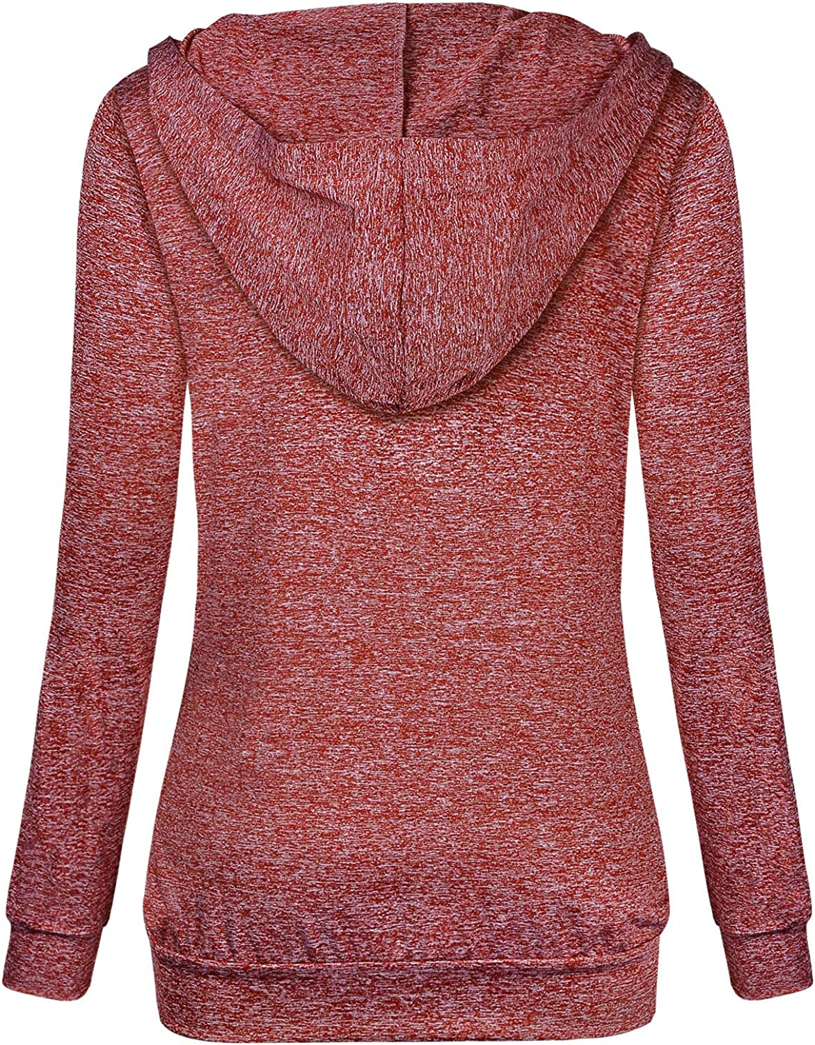 Womens Long Sleeve Hoodie Pullover Casual Lightweight Sweatshirts Activewear Hooded Shirt Top Yoga Workout