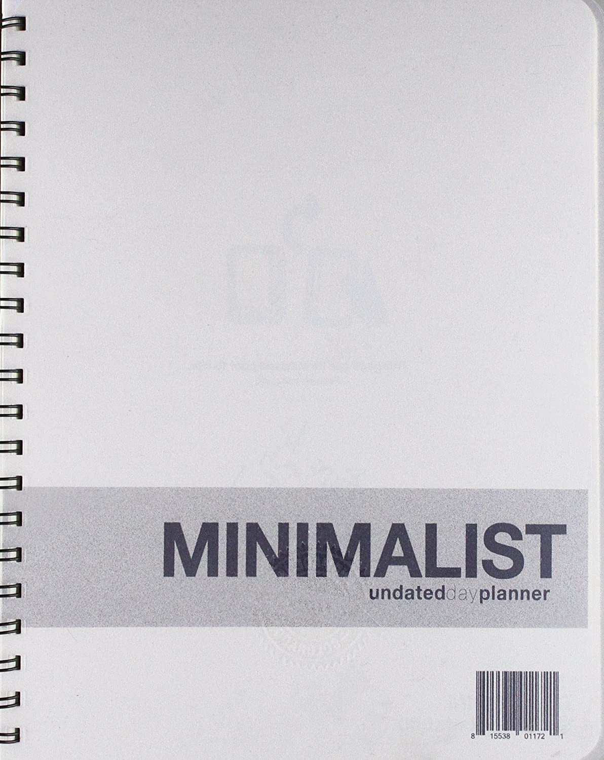 Undated Minimalist Day Planner - A planner without all the bells and whistles - Functional tool to manage your time Action Publishing Inc.