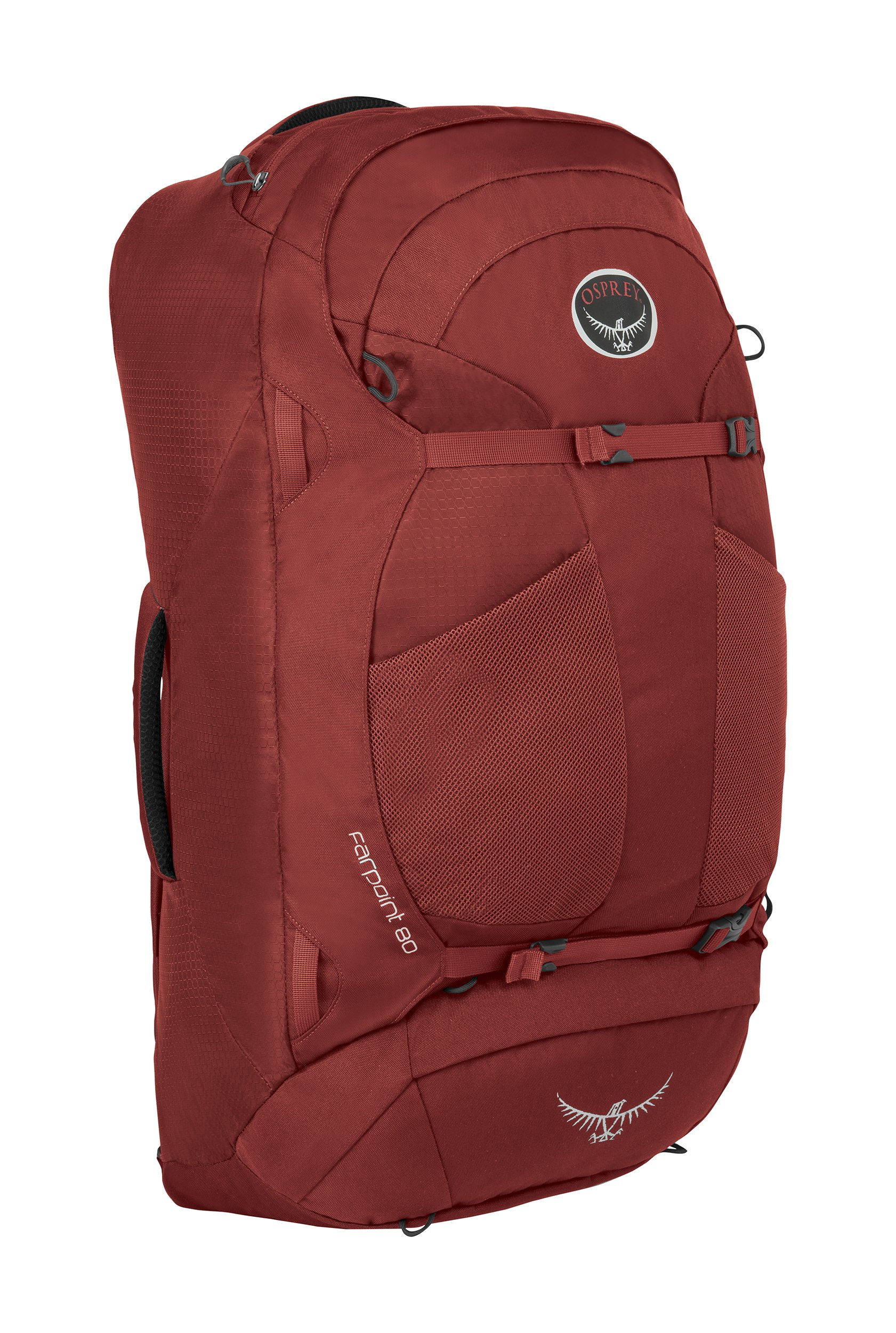 Osprey Packs Farpoint 80 Travel Backpack, Jasper Red, Medium/Large