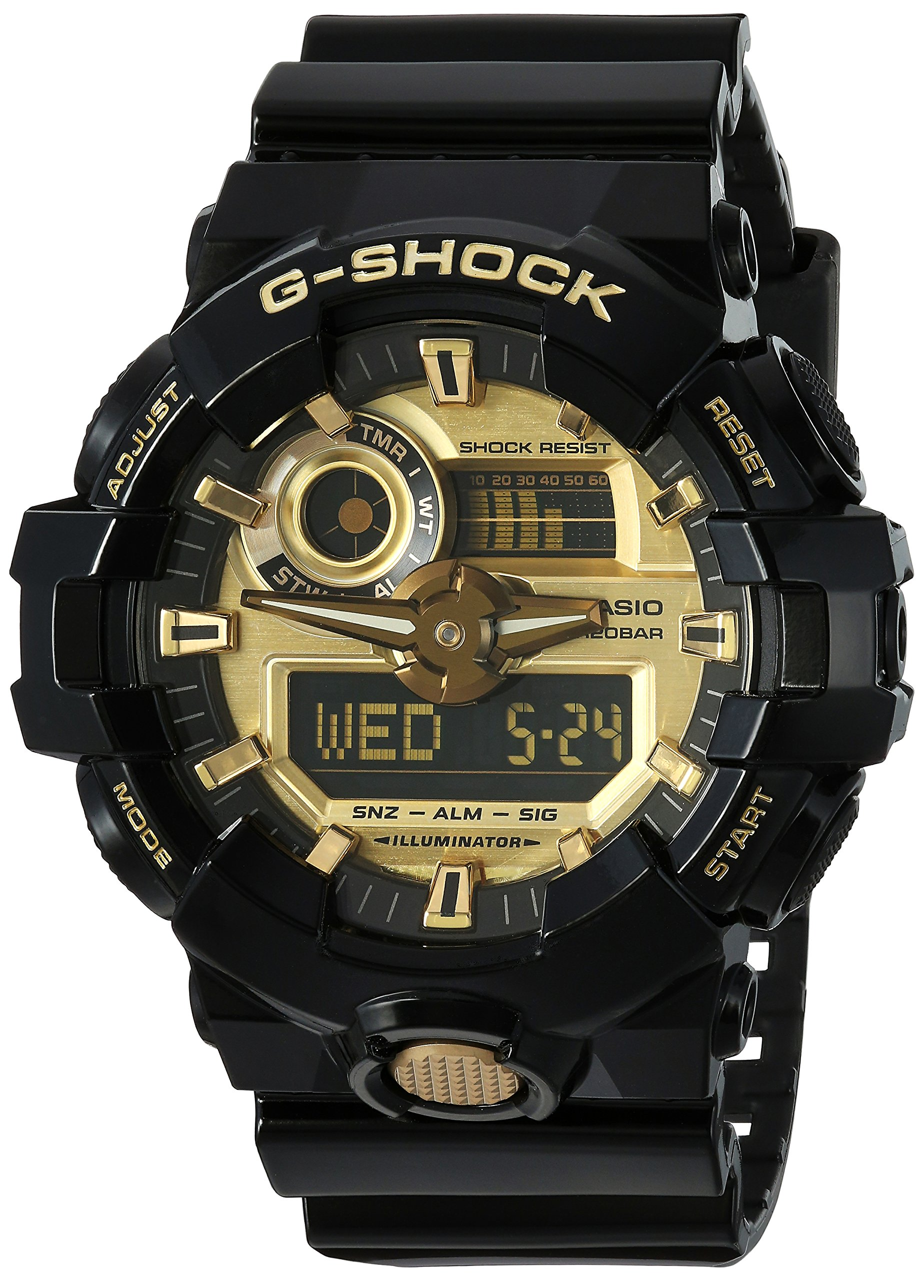 Casio Men's 'G SHOCK' Quartz Resin Casual Watch, Color:Black (Model: GA-710GB-1ACR)