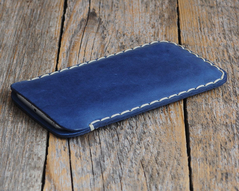 Étui Bleu pour Samsung Galaxy Note8 en Cuir Véritable. Coque Housse Note 8 Case Cover Pochette