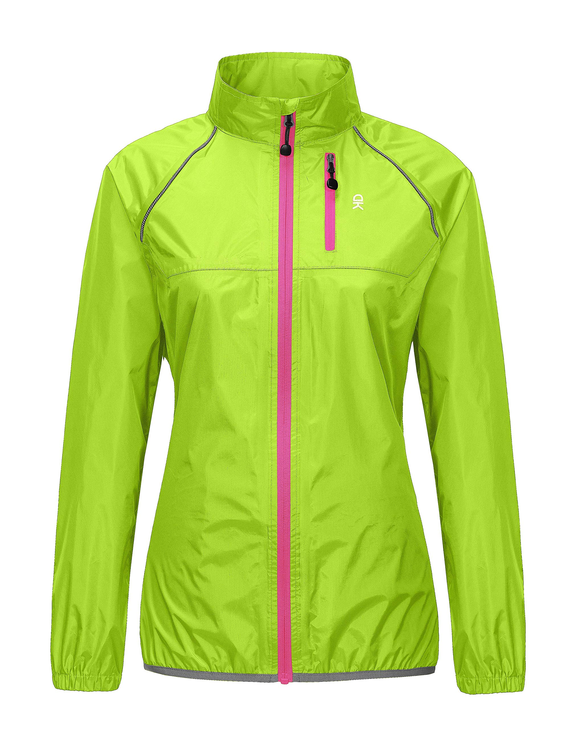 Little Donkey Andy Women's Waterproof Cycling Bike Jacket, Running Rain Jacket, Windbreaker, Ultralight and Packable Hi-Viz Yellow XS by Little Donkey Andy