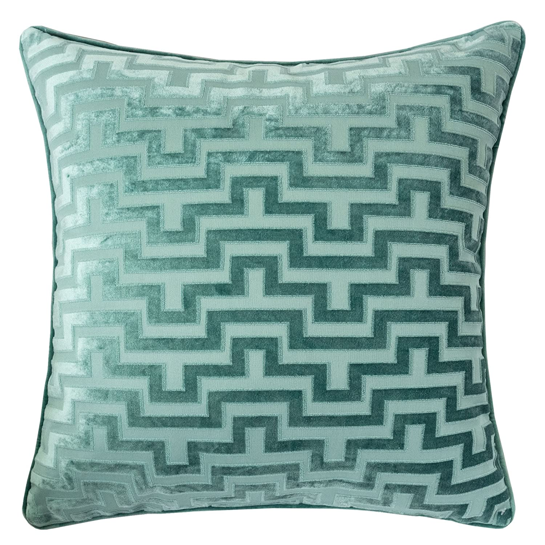 Amazon Com Homey Cozy Modern Maze Throw Pillow Cover Spa Green