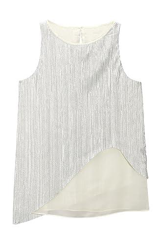 next Mujer Top Capas Metálico Regular Camiseta Ropa