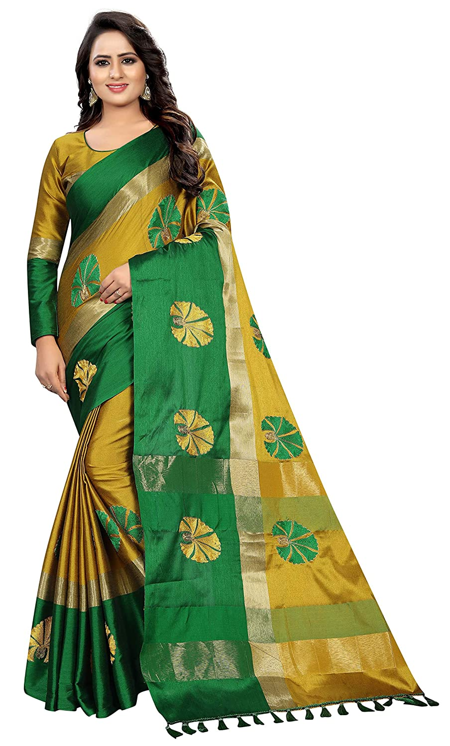 Shreeji Designer Cotton Silk Saree 0