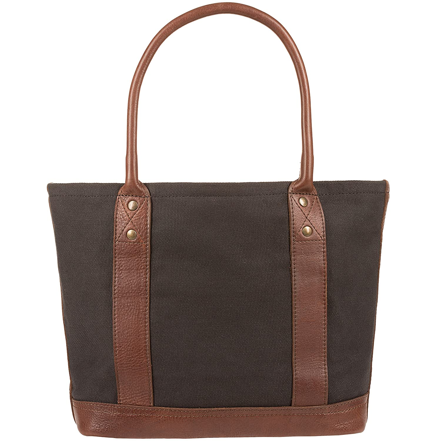 Will Leather Goods Medium Womens Canvas Leather Getaway Tote