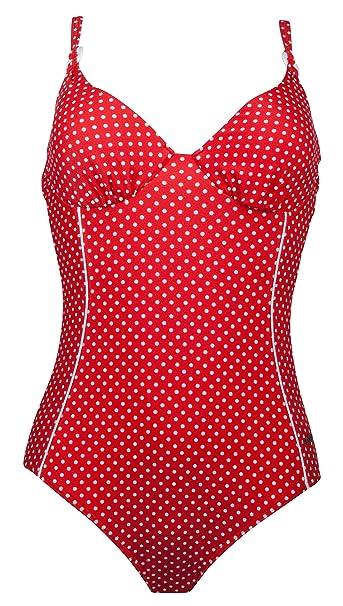 size 40 3b1de c4c0e Naturana 73017 Softschalen Bügel Badeanzug 42 C Rot Punkte ...