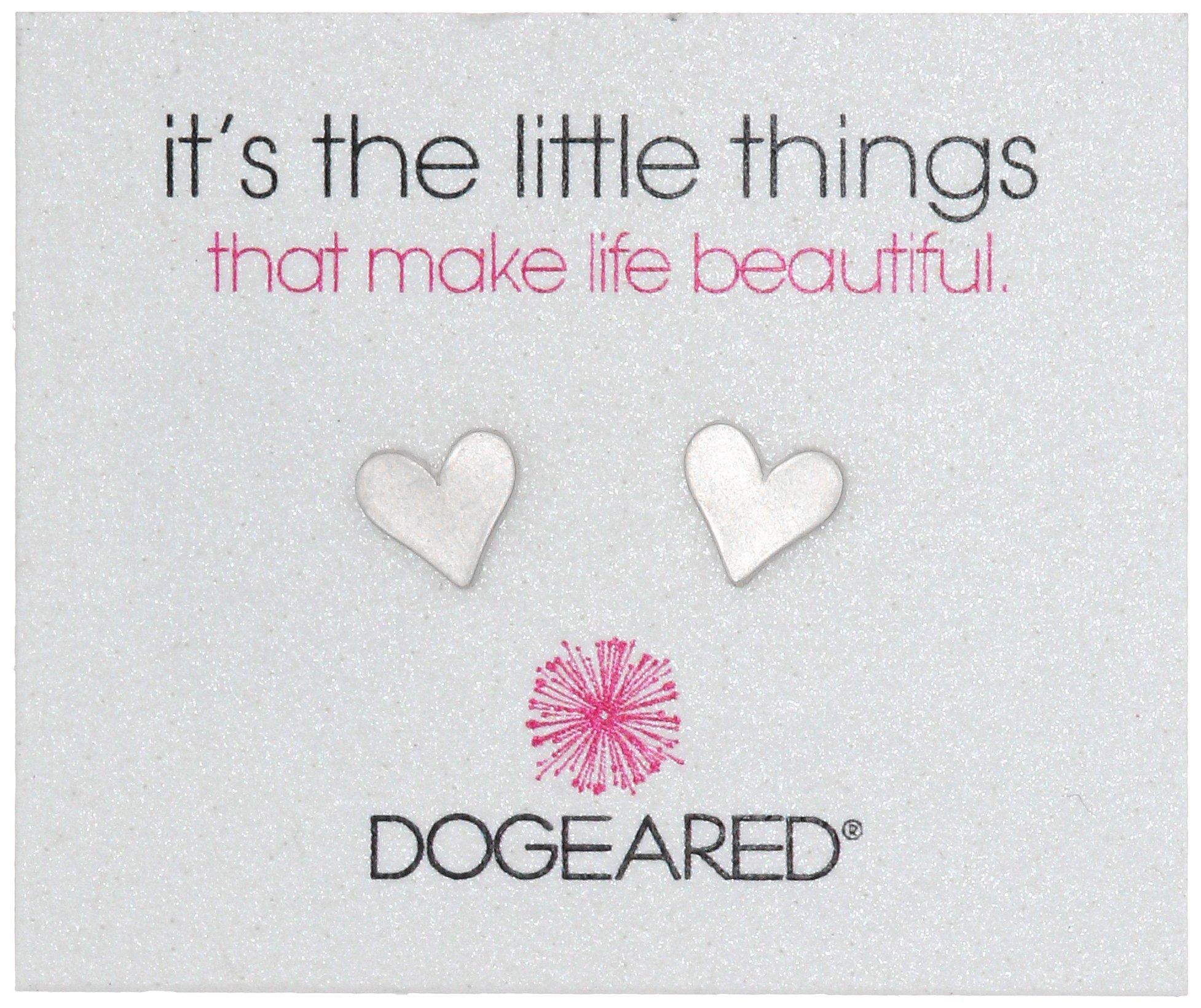Dogeared''It's the Little Things'' Sterling Silver Heart Post Earrings