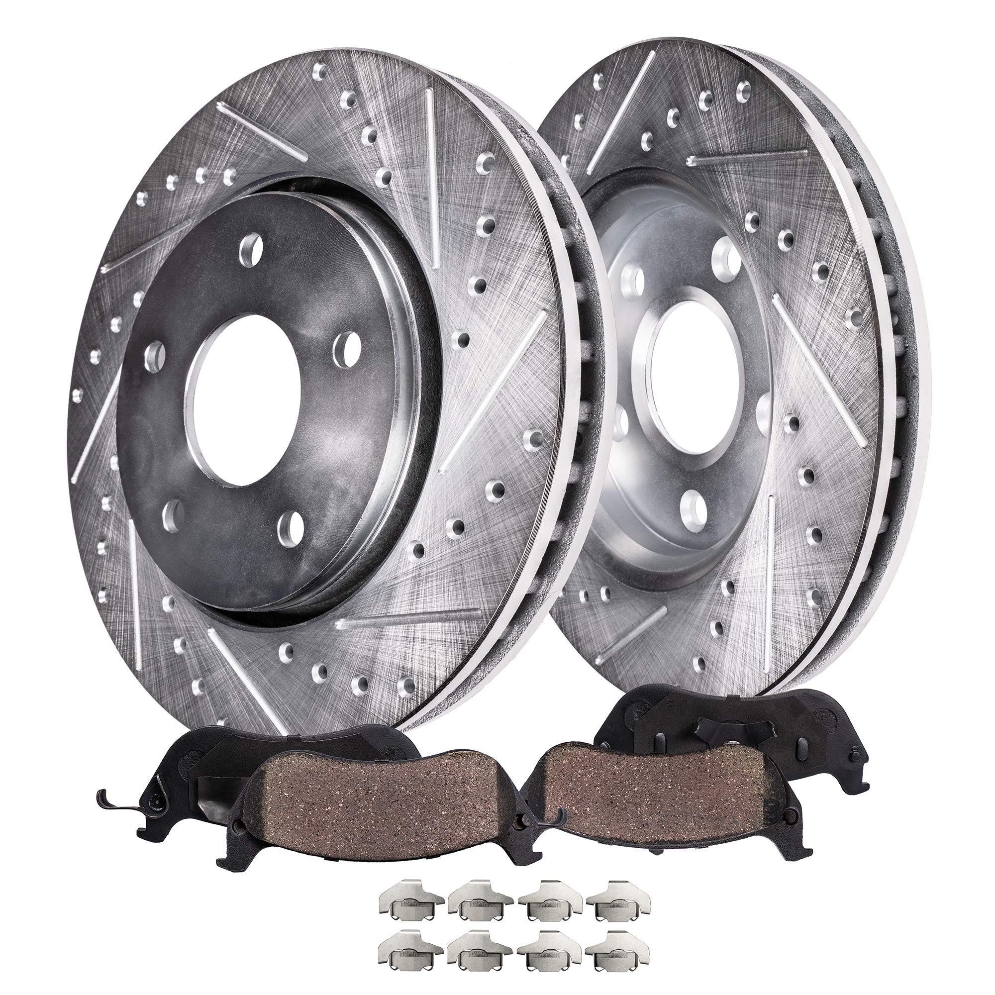 320mm Front 308mm Rear Drilled Rotor Ceramic Brake Pad for 2006-2009 Nissan 350Z