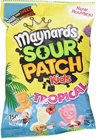 Maynards Sour Patch Kids Tropical Candy 185 Grams Amazon Ca Grocery