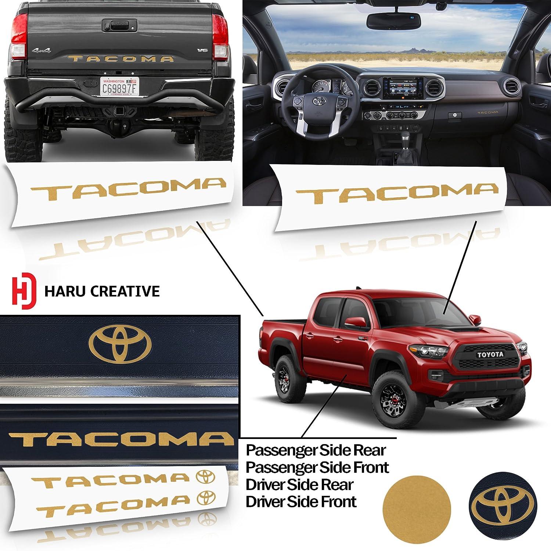 Matte Green Rear Tailgate Door Sill Protector Overlay Insert Decal Toyota Tacoma 2016 2017 2018 Full Decal Set Glove Box Dashboard Haru Creative