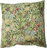 MorrisDesign at Oxfordtime モリスデザインオックスフォードタイム Cushion Cover クッションカバー(41cm × 41cm) Golden Lily (ゴールデンリリー) CC96