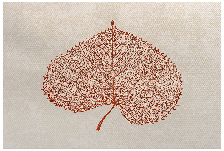 E by design RFN747OR16-23 Leaf Study Rust Orange 2 x 3 Floral Print Indoor//Outdoor Rug