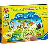 Ravensburger 07501 - Tiere dieser Welt - interactive Puzzle, 3 x 35 Teile