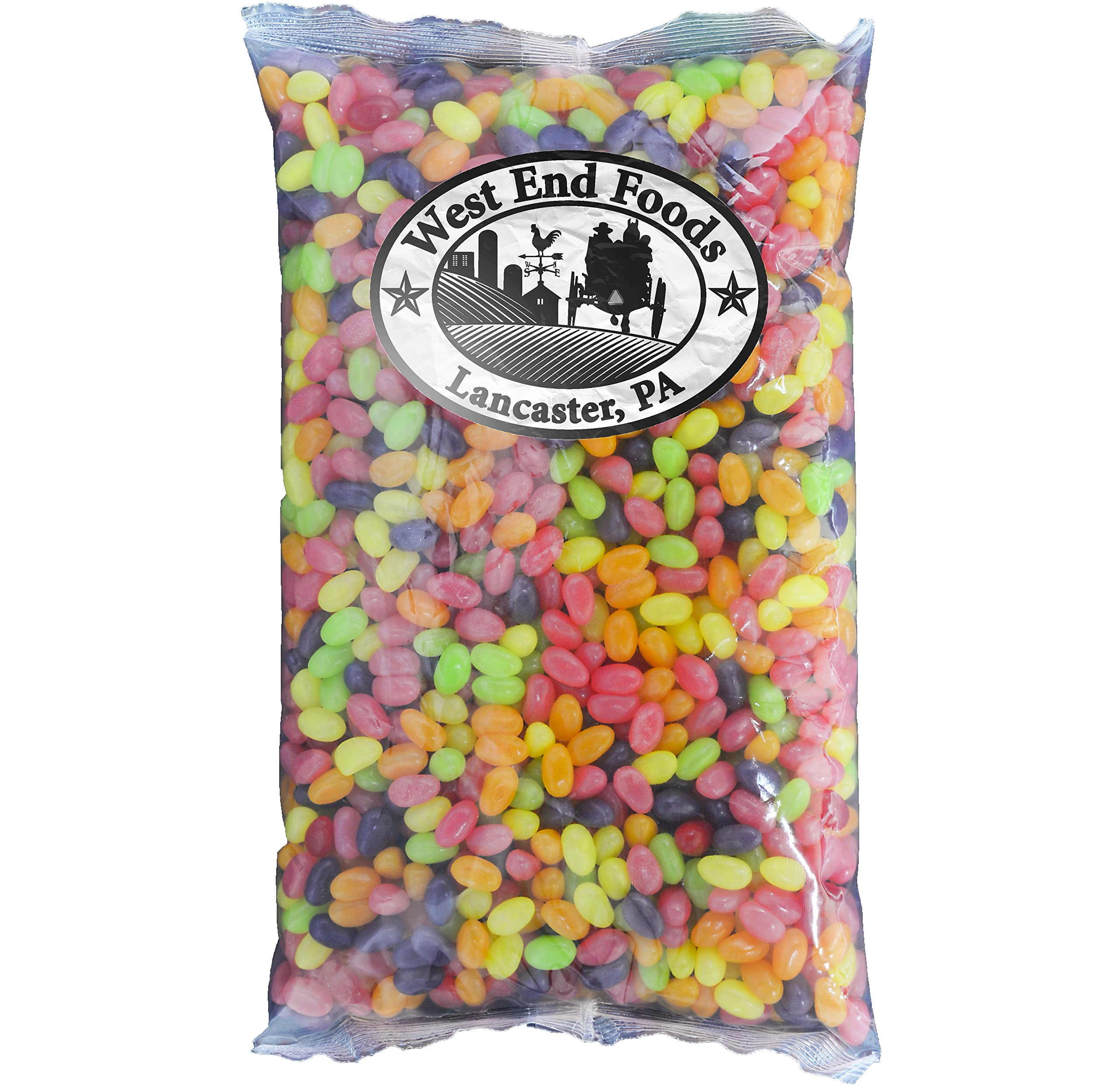 Jelly Beans Candy (Lemon, Grape, Cherry, Strawberry, Orange and Lime) 5 Lb Variety Pack