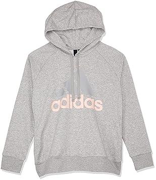 adidas Damen ESS Lin Oh Hd Sweatshirt, grau (medium Heather Haze Coral s17 b1cfeceb4c