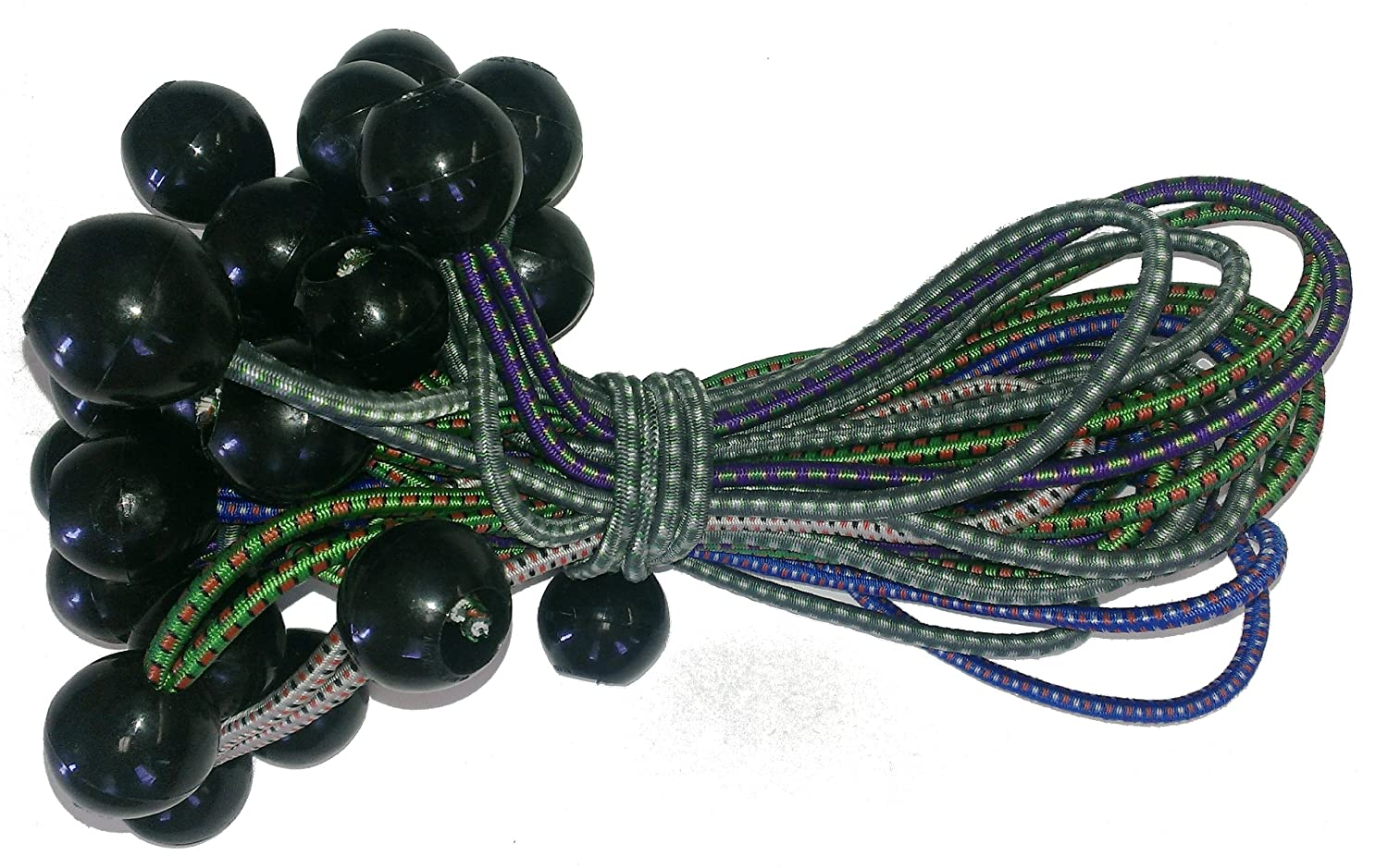 9-Inch Multi-Color 25-Piece Kotap BB-9 Ball Bungee