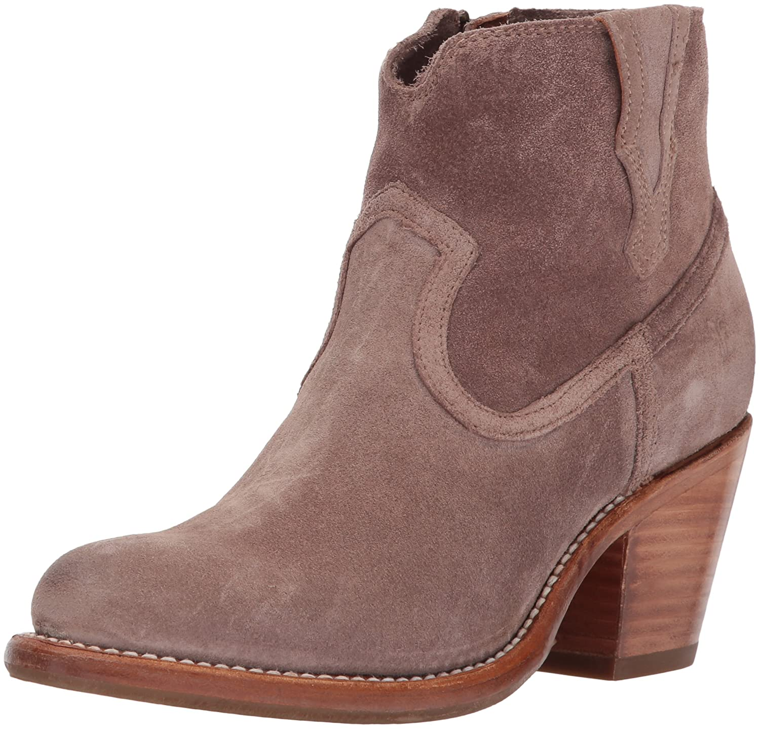 FRYE Women's Lillian Western Bootie Boot B01MQZ5PVH 10 B(M) US|Dusty Rose Soft Oiled Suede