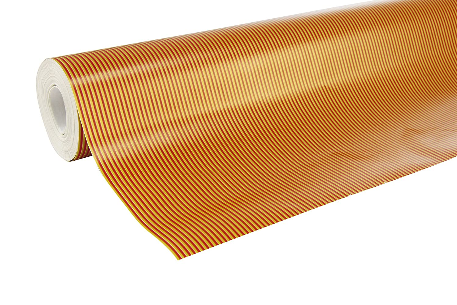 Clairefontaine 50 x 0.7 m Alliance Striped Paper Roll - Gold/Red ExaClair 211313C