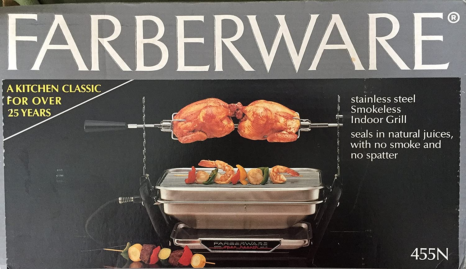 Farberware Open Hearth Electric Broiler and Rotisserie