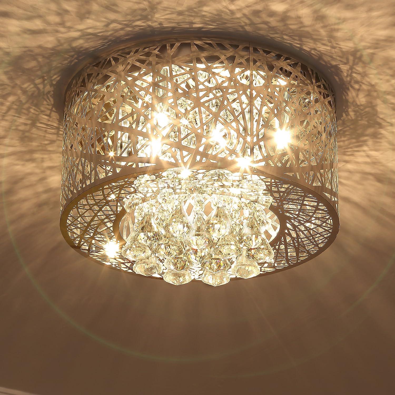 Saint Mossi Modern K9 Crystal Lámpara de suspensión de araña ...