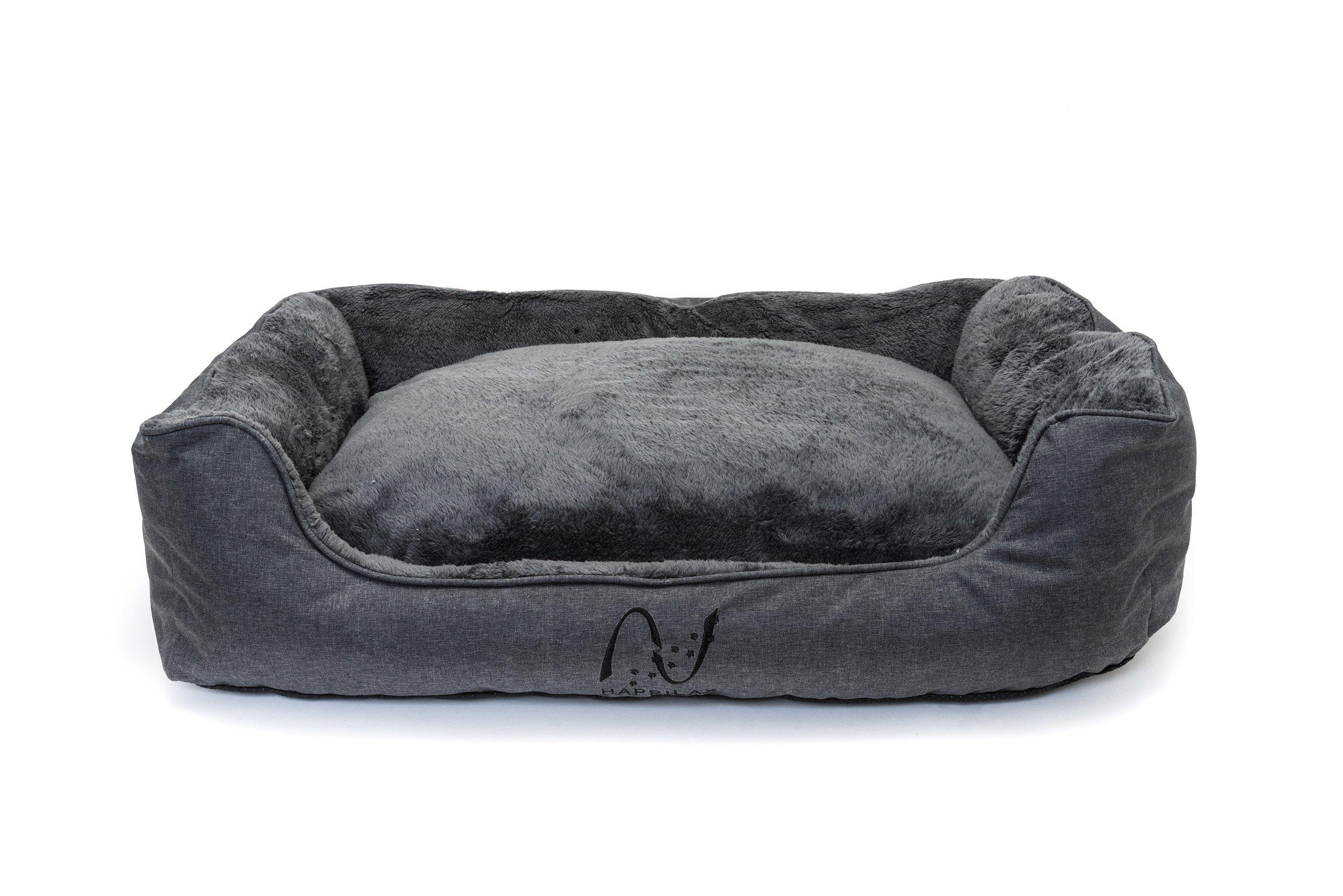 Happilax Cama perro grande lavable con almohada de felpa reversible, Talla L product image