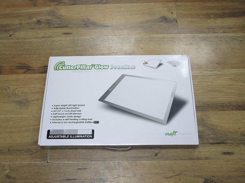 cutterpillar glow premium led light board silver amazon co uk