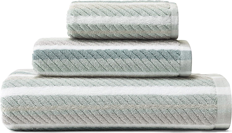 Tommy Bahama Ocean Bay Stripe Bath Towel Set, 54 x 28, Blue