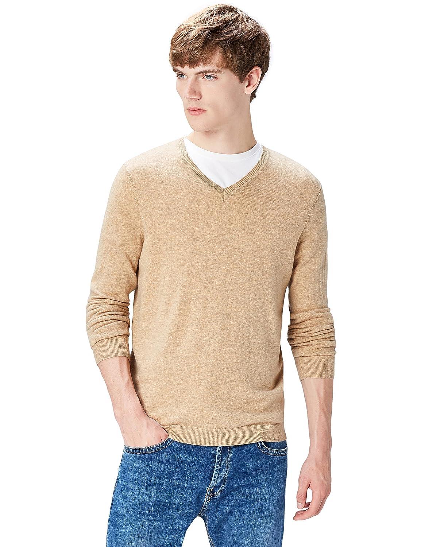 TALLA 52 (Talla del Fabricante: Large). find. Jersey con Cuello de Pico para Hombre