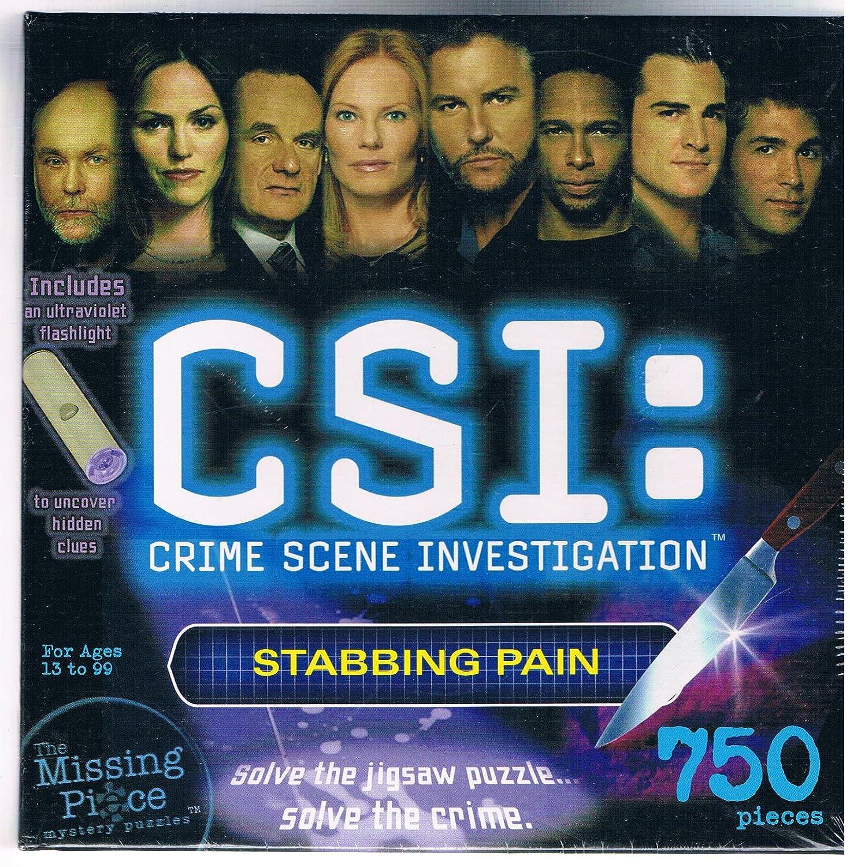 Tienda de moda y compras online. CSI: 750 Piece Mystery Puzzle - - - Stabbing Pain by Warren Industries  ¡no ser extrañado!