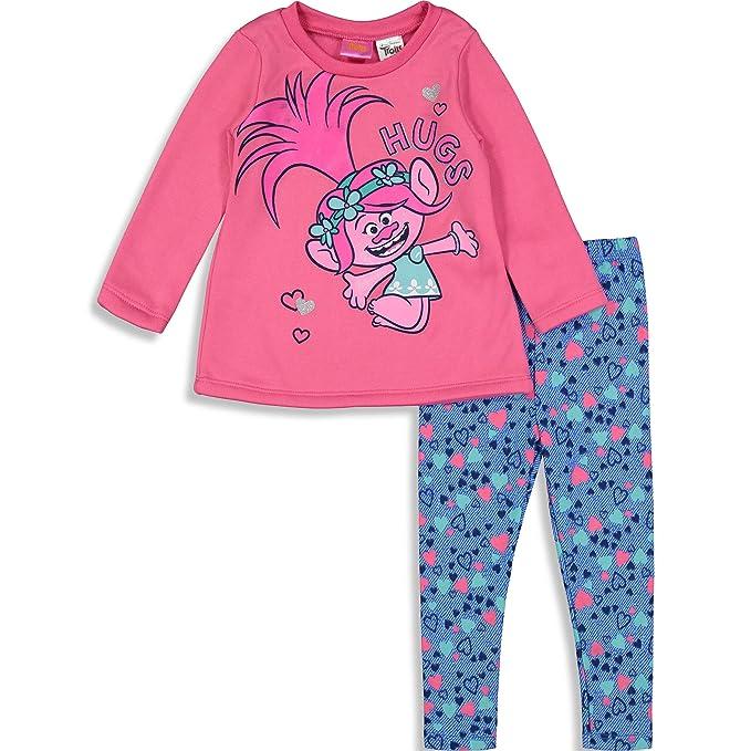 5c9e03df3 Trolls Poppy Toddler Girls' Long-Sleeve Fashion T-Shirt & Leggings Outfit  Set