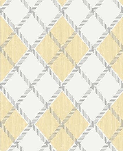 Graham Brown 20 551 1 Fabric Collection Argyle Wallpaper Ochre