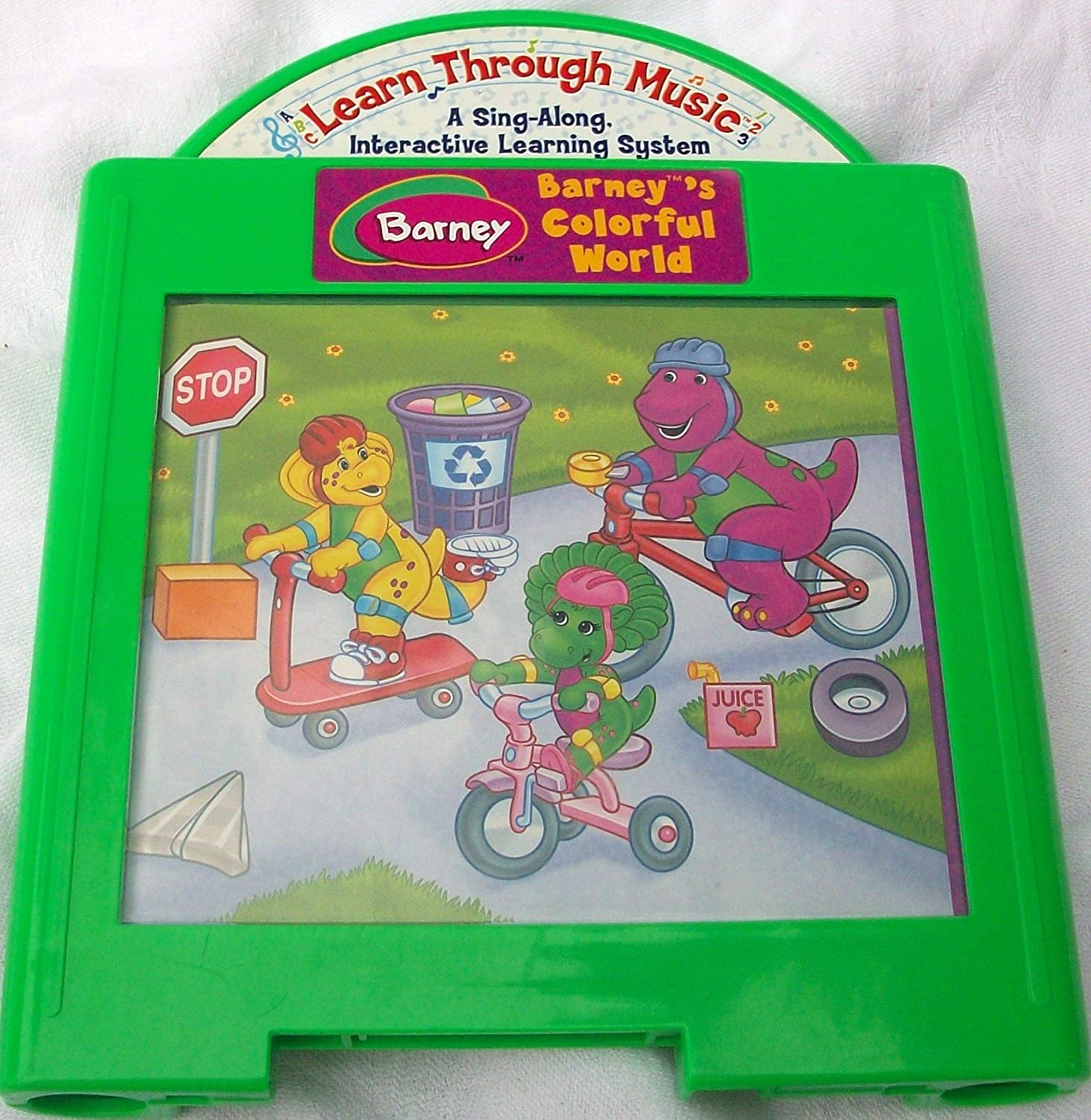 Learn Through Music Barneys Colorful World Cartridge Sing Along Interactive Learning System Barney