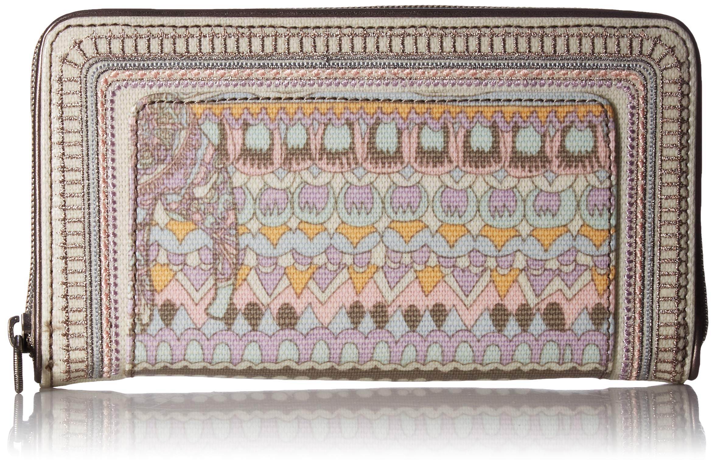 Sakroots Unisex-adults Large Zip Around Wallet, Pastel One World