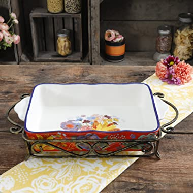 The Pioneer Woman Spring Bouquet 2-piece Ceramic Bakeware Set