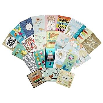 Amazon hallmark all occasion handmade boxed assorted greeting hallmark all occasion handmade boxed assorted greeting cards set pack of 24 birthday m4hsunfo